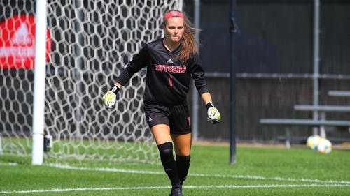 Junior goalkeeper Meagan McClelland faced zero shots on goal in the first half of play. – Photo by Scarletknights.com