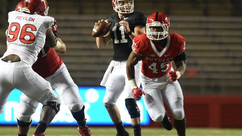 Junior quarterback Hayden Rettig is headed for his third school for his fifth year of college. He finished his career with233 yards, 2 touchdowns and no interceptions on 14-for-25 passing in five appearances, none of which coming in 2016. – Photo by Photo by The Daily Targum | The Daily Targum