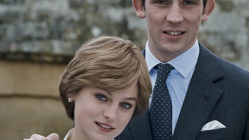 "Josh O' Connor plays Prince Charles and Emma Corrin plays Princess Diana in season four of the Netflix show ""The Crown.""  – Photo by The Crown Netflix / Instagram"