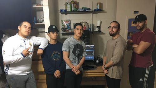 """Jungle Jambooskies, a rap group consisting of first-year studentsJason """"Big Chill"""" Morel, Edsel Selengalla,Christian """"Sibs"""" Barillas,Nicco Salgado andJordy Reyes, has released nine singles since its inception in February. The most popular of the bunch is 'ChEcK mY SAKAI,' alluding to theinterface most professors at the University use to communicate with students and post assignments. – Photo by Courtesy of Jungle Jambooskies"""