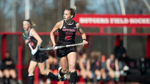 Senior forward Kassidy Shetler provided an assist, but the Rutgers field hockey team had its Big Ten Tournament run ended in a loss to Northwestern. – Photo by Scarletknights.com