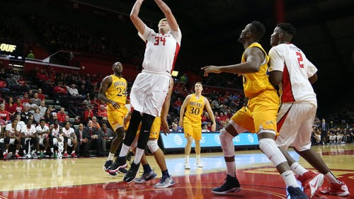 Graduate transfer center C.J. Gettys hit a game-winning layup with 7 seconds remaining in Rutgers' 77-75 win over Hartford Friday. He finished the game with 11 points, five rebounds and a career-high 4 assists. – Photo by Photo by Dimitri Rodriguez   and Dimitri Rodriguez The Daily Targum