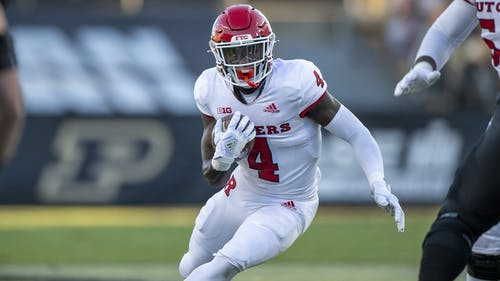 Sophomore running back Aaron Young had a game-high 86 rushing yards as the Rutgers football team participated in its spring scrimmage.  – Photo by Scarletknights.com