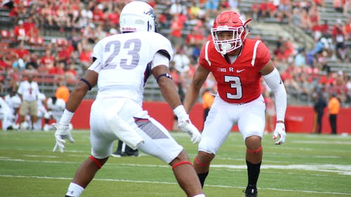 Redshirt freshman Jawuan Harris earned a starting spot on the depth chart after scoring his first career touchdown against Howard. – Photo by Dimitri Rodriguez