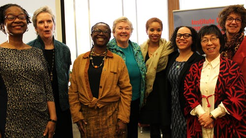 """From Exclusion to Inclusion"" was a symposium hosted at Rutgers on Tuesday where researchers discussed the lives of women at the University over the years. – Photo by Chloe Coffman"