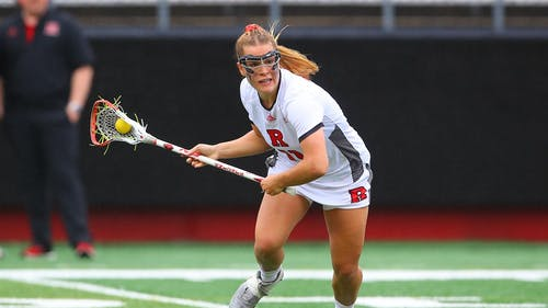Senior attacker Taralyn Naslonski recorded an assist, as the Rutgers women's lacrosse team completed a weekend sweep of Ohio State, winning the rematch 10-9. – Photo by Scarletknights.com