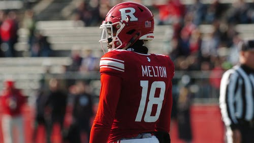 Senior wide receiver Bo Melton ranked 19th in the Big Ten last year with 14.23 yards per reception. – Photo by Kelly Carmack