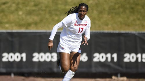 Senior forward Amirah Ali has been selected as The Daily Targum's female athlete of the month after an impressive start to the season for her and the Rutgers women's soccer team.  – Photo by Mike Lawrence / Scarletknights.com