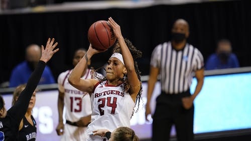 Fifth-year senior guard Arella Guirantes put up a team high 30 points in the Knights' loss to BYU. – Photo by Rutgers Women's Basketball / Twitter