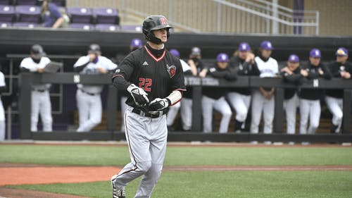 Junior outfielder Richie Schiekofer contributed a bases-clearing double as the Rutgers baseball team won its series against Michigan.  – Photo by Scarletknights.com