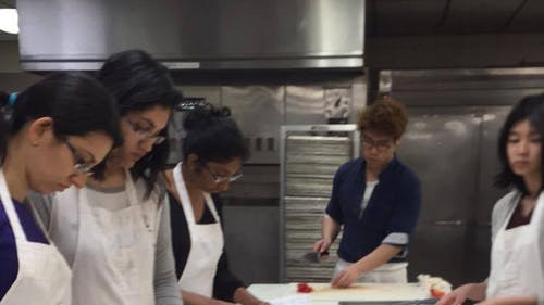 The Culinary Club teaches its members how to cook foods from different cultures across the world. Often, an established chef will visit the group to help teach the students how to create different meals.