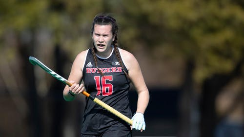 Senior Kerrie Burns said that beating Penn State has been a longtime goal for the Rutgers field hockey team. – Photo by Scarletknights.com