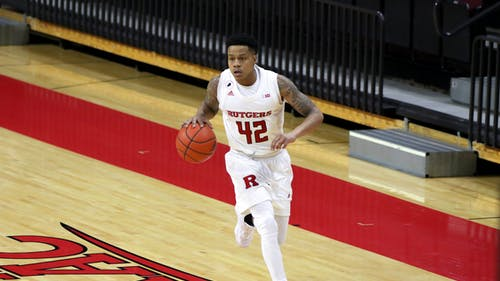 Senior guard Jacob Young and the Rutgers men's basketball team face Iowa with both teams being ranked in the top 25 in each of their games.  – Photo by Kelly Carmack / Photo Editor