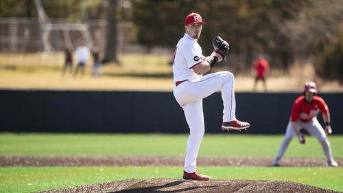Junior pitcher Harry Rutkowski will likely get the start in Friday's series opener against Michigan. – Photo by Scarletknights.com
