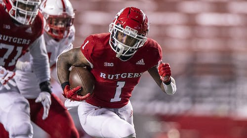 Junior running back Isaih Pacheco produced over 500 rushing yards in 2020 and looks to add to that total as the Rutgers football team prepares for the 2021 season.  – Photo by Ben Solomon / Scarletknights.com