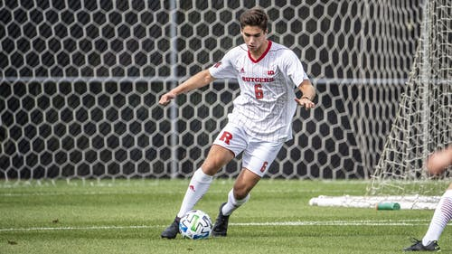 Sophomore defender Cole Sotack scored the only goal of the game as the Rutgers men's soccer team defeated Princeton 1-0.  – Photo by Scarletknights.com