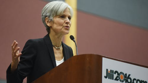 Green Party candidate held a rally at Rutgers where she discussed the presidential election. Her campaign will protest peacefully at the first debate. – Photo by Marielle Sumergido