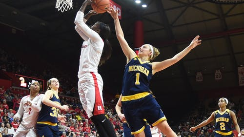 Senior forward Kahleah Copper had her 11th double-double of the season with 25 points and 12 boards against Ohio State. – Photo by Photo by Michelle Klejmont | The Daily Targum