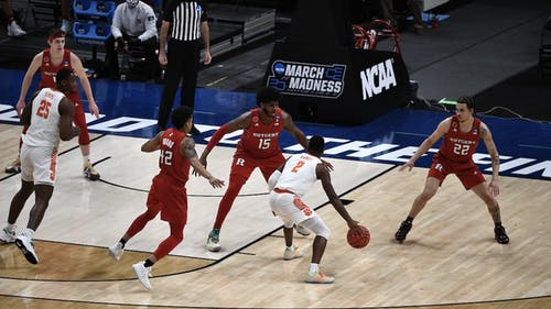 The Rutgers men's basketball team will look for a repeat of its NCAA Tournament win as Clemson was announced as its opponent in the ACC/Big Ten Challenge.  – Photo by Rutgers Basketball / Twitter