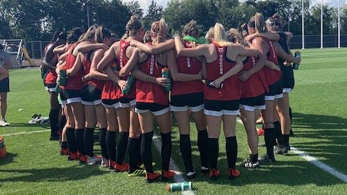 The Rutgers women's soccer team scored six in its season opener against Fairleigh Dickinson. – Photo by Rutgers Women's Soccer / Twitter