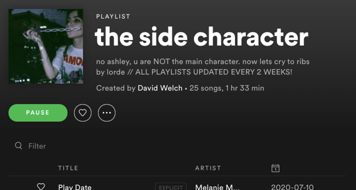 Want to feel like your favorite character? Check these playlists out