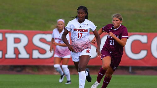 Senior forward Amirah Ali and the Rutgers women's soccer team were held to a 1-1 draw against Michigan in their regular season finale.  – Photo by Scarletknights.com