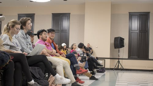 Some attendees of the Hong Kong protest panel were involved in conversation that some guests looked on as intimidating during the panel's intermission.