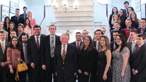 The Rutgers College Republicans hosted the state convention on Saturday in the Wood Lawn Mansion on Douglass campus. Various elected officials came to discuss their work and national issues. – Photo by Photo by Nikita Biryukov | The Daily Targum