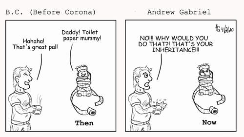 Andrew Gabriel is a Rutgers employee who has been using his love for art to create comic strips about life during coronavirus. – Photo by Courtesy of Andrew Gabriel